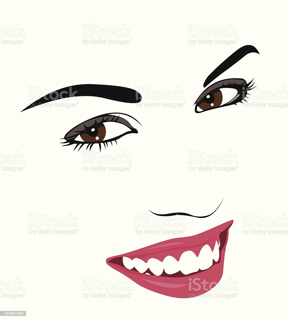 happy young woman smile vector stock vector art more images of 18 rh istockphoto com smile vector png smile vector freepik