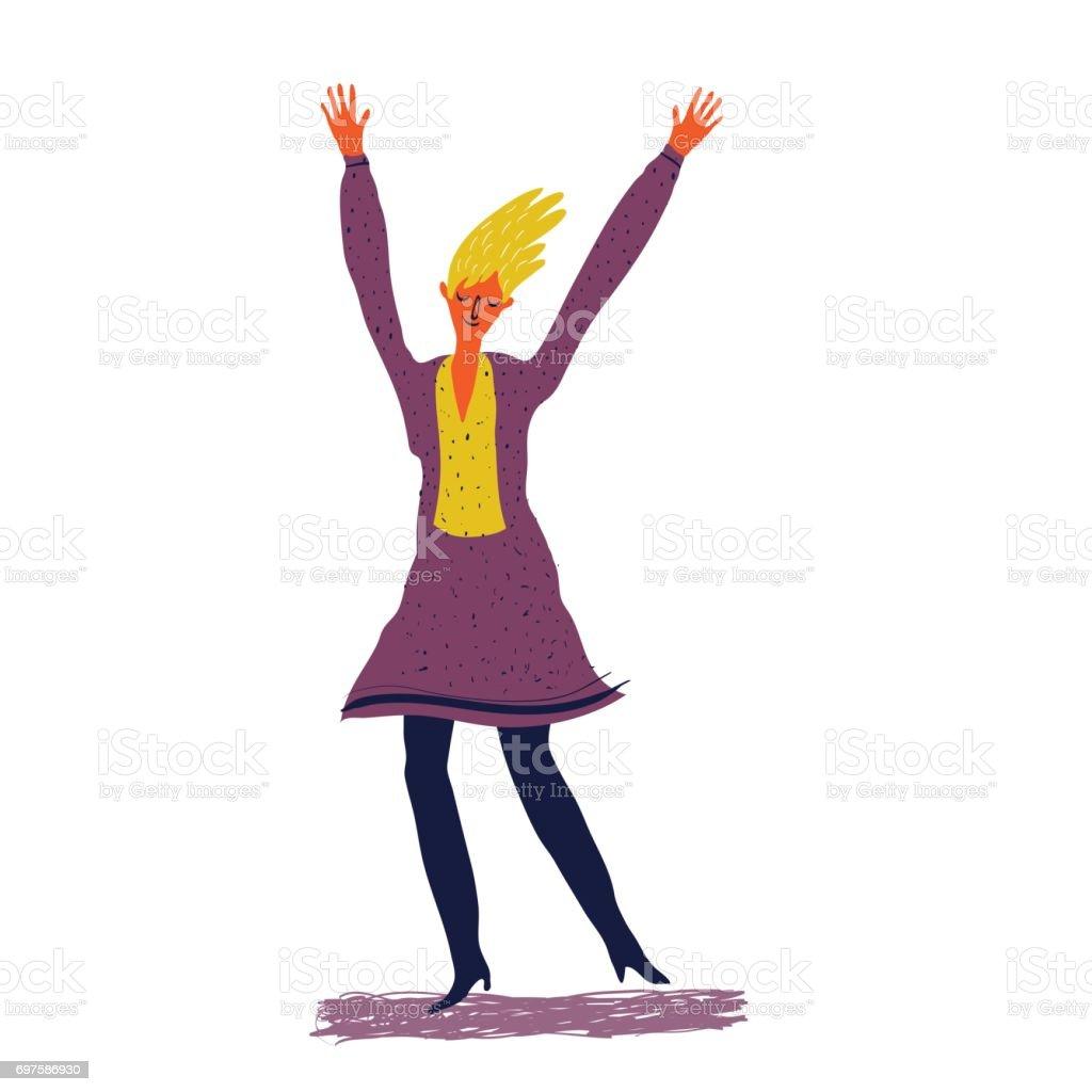 glückliche junge Frau – Vektorgrafik