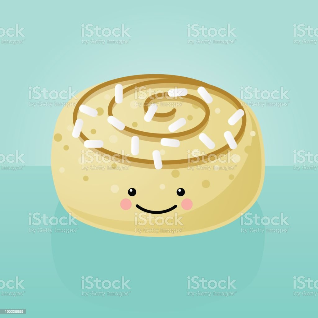 happyland: cinammon roll royalty-free stock vector art