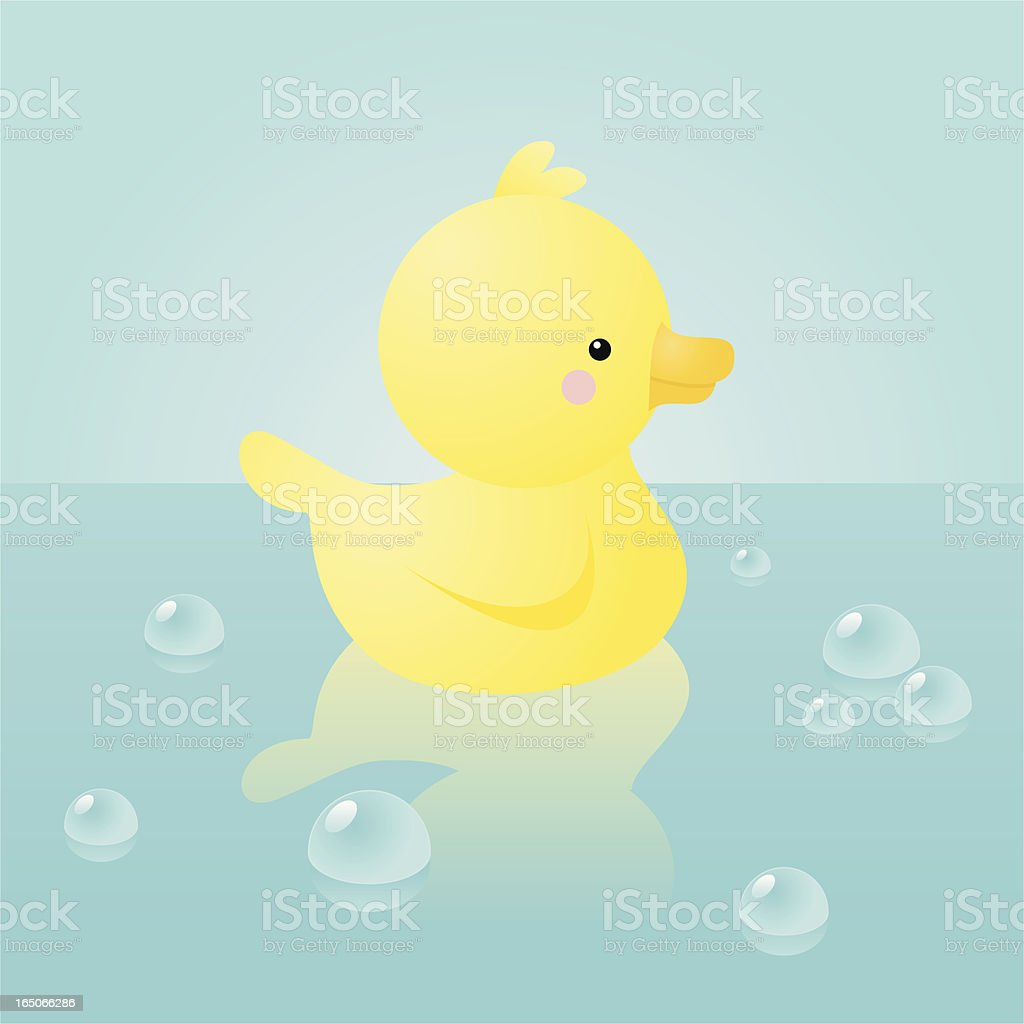 happyland: duckie vector art illustration