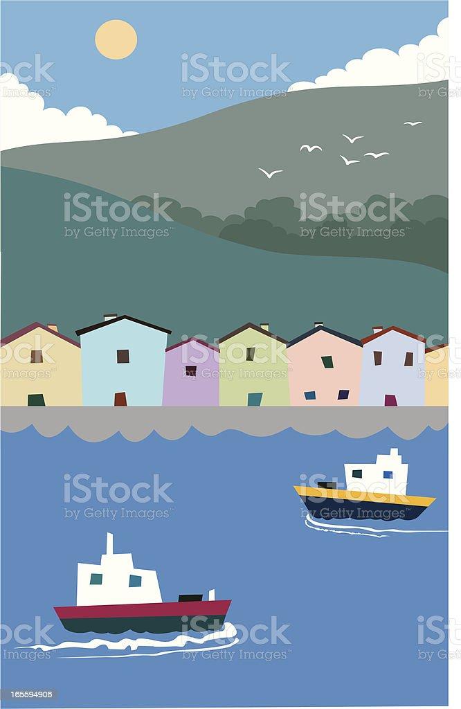Frente del puerto ilustración de frente del puerto y más banco de imágenes de anticuado libre de derechos