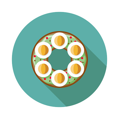 Hard Boiled Egg Bagel Icon