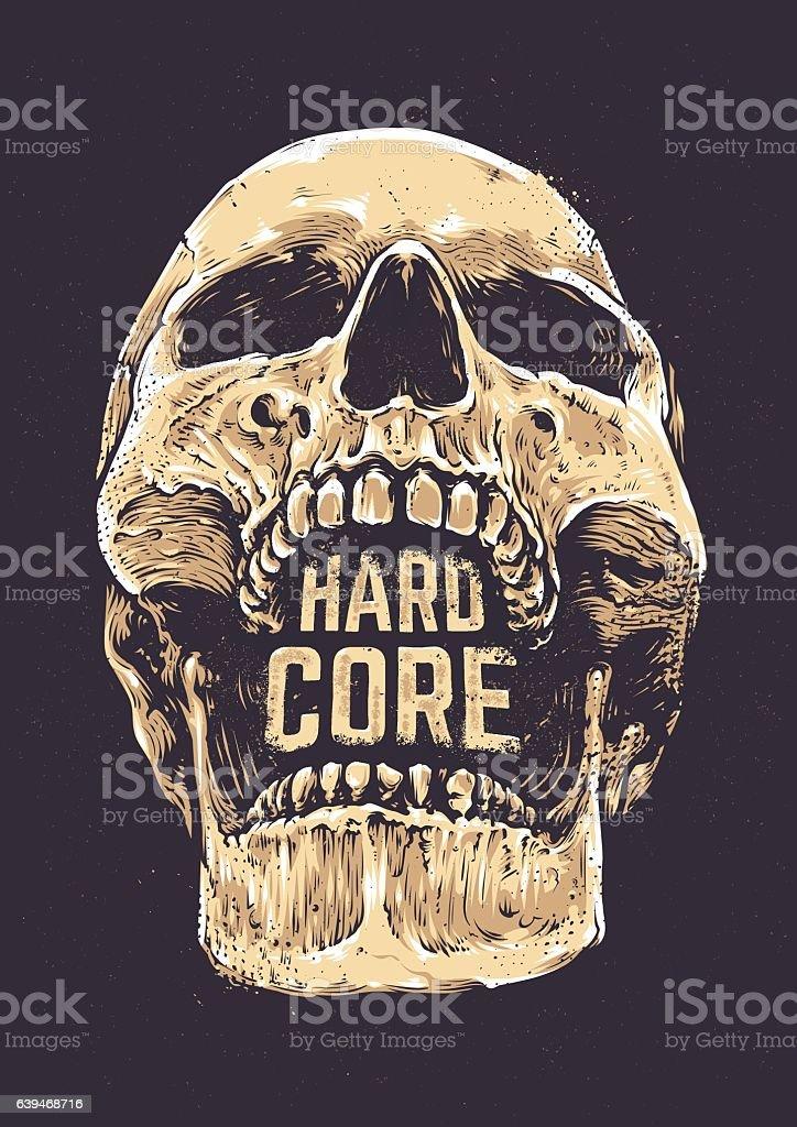 Hard Core Skull – Vektorgrafik