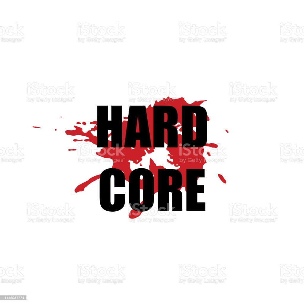 Hard Core Vector Stylized Heavy Rock Music Symbol With Black