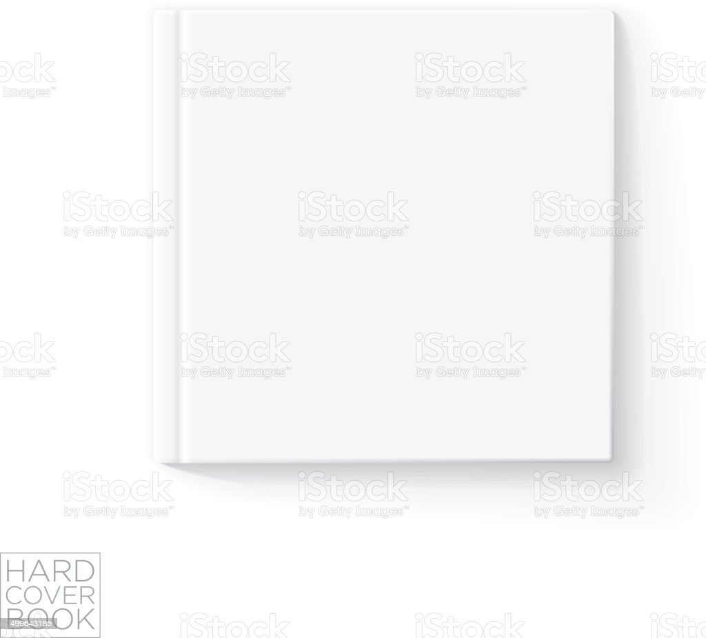 Hard Cover Book Template vector art illustration
