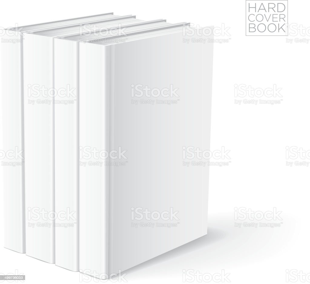 Hard Cover Book Template vector art illustration