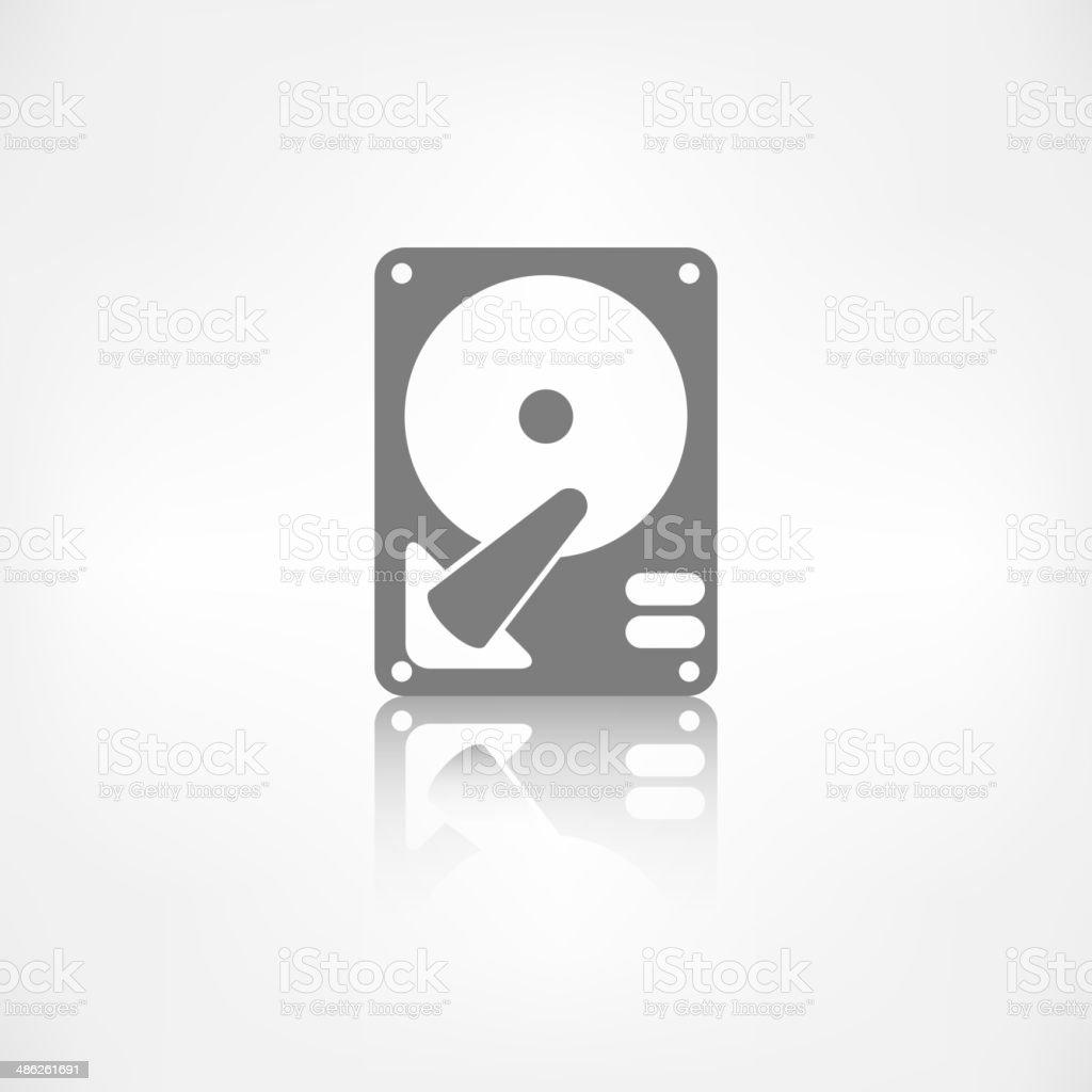 Hard disc icon vector art illustration