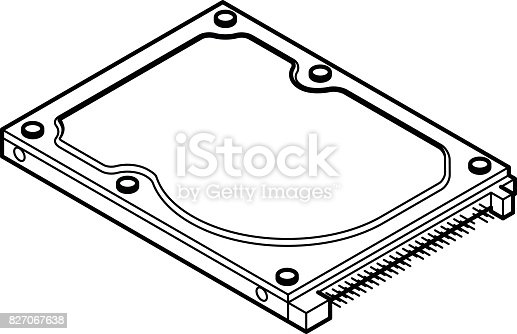hard disk line drawing stock vector art  u0026 more images of