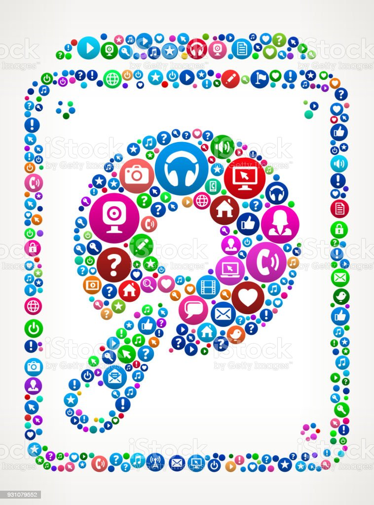 Hard Drive Internet Communication Technology Icon Pattern vector art illustration