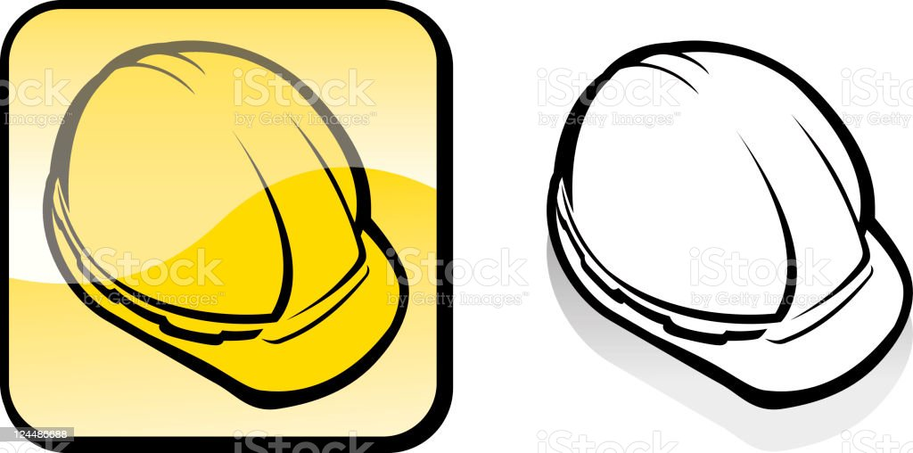 Hard Hat Construction royalty-free stock vector art