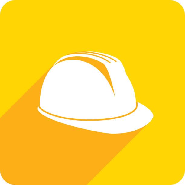 ilustraciones, imágenes clip art, dibujos animados e iconos de stock de casco icon silueta - equipo de seguridad