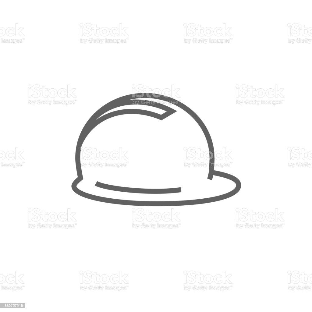 Hard hat line icon vector art illustration