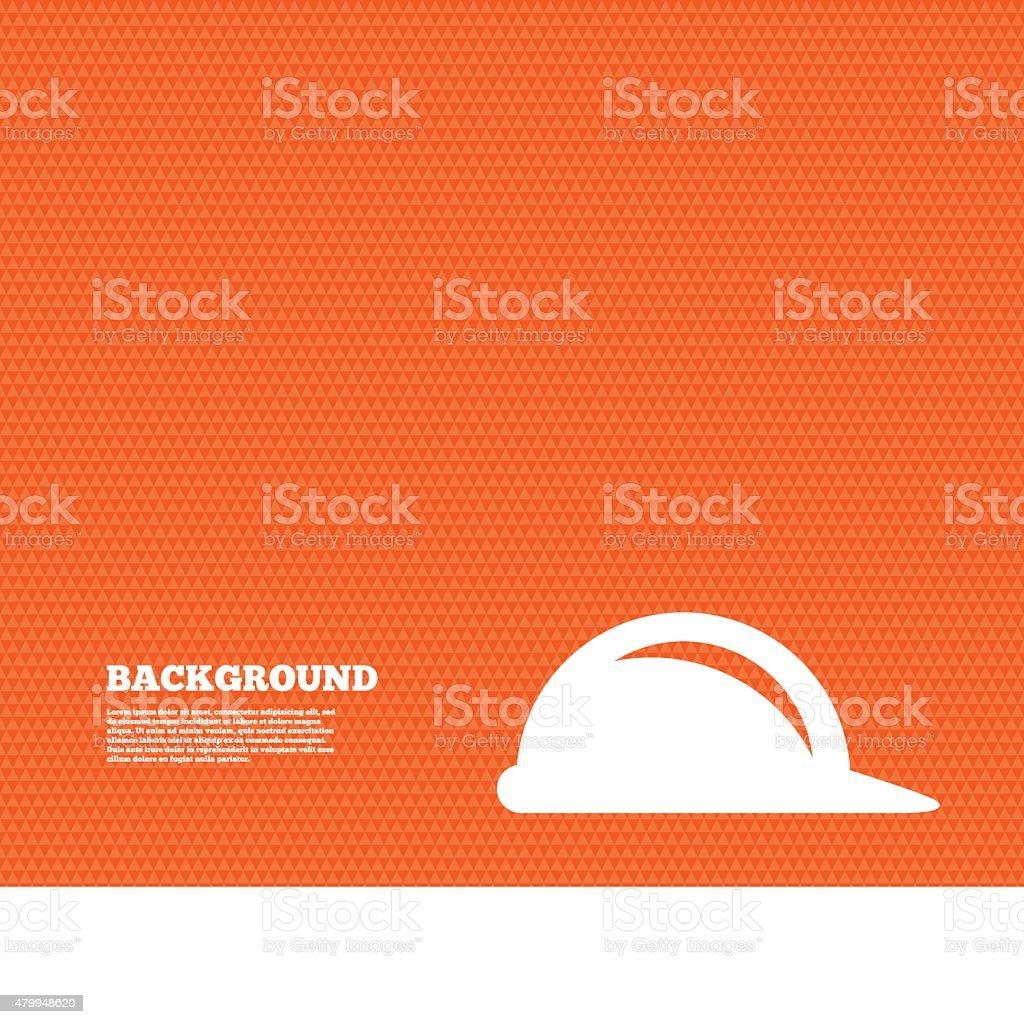 Hard hat sign icon. Construction helmet symbol vector art illustration