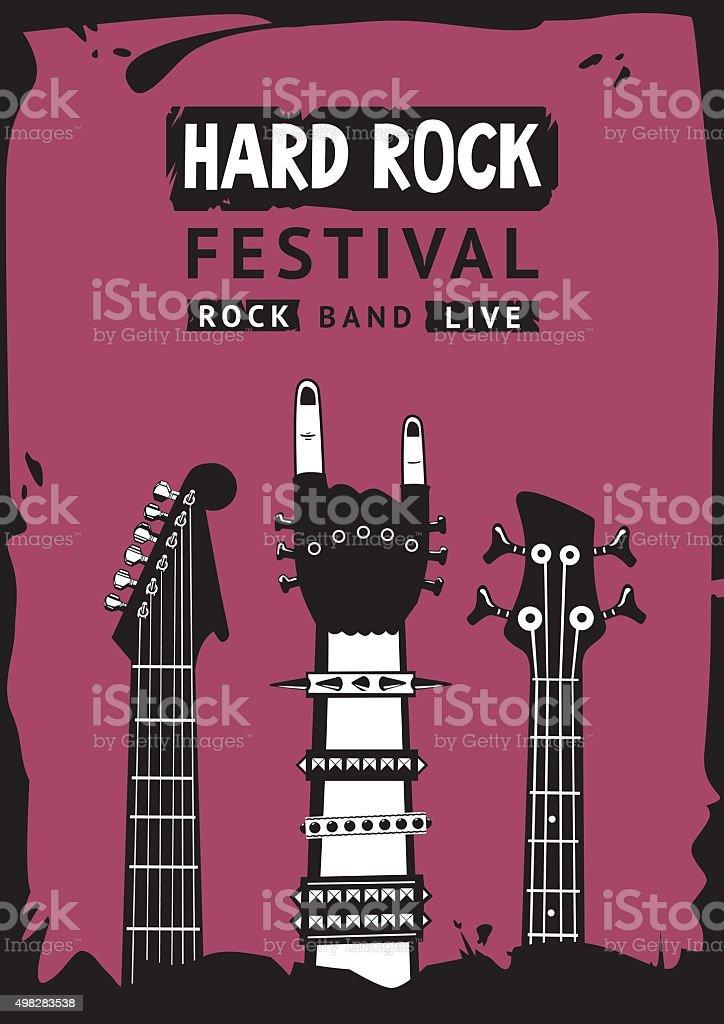 Hard rock festival vector art illustration