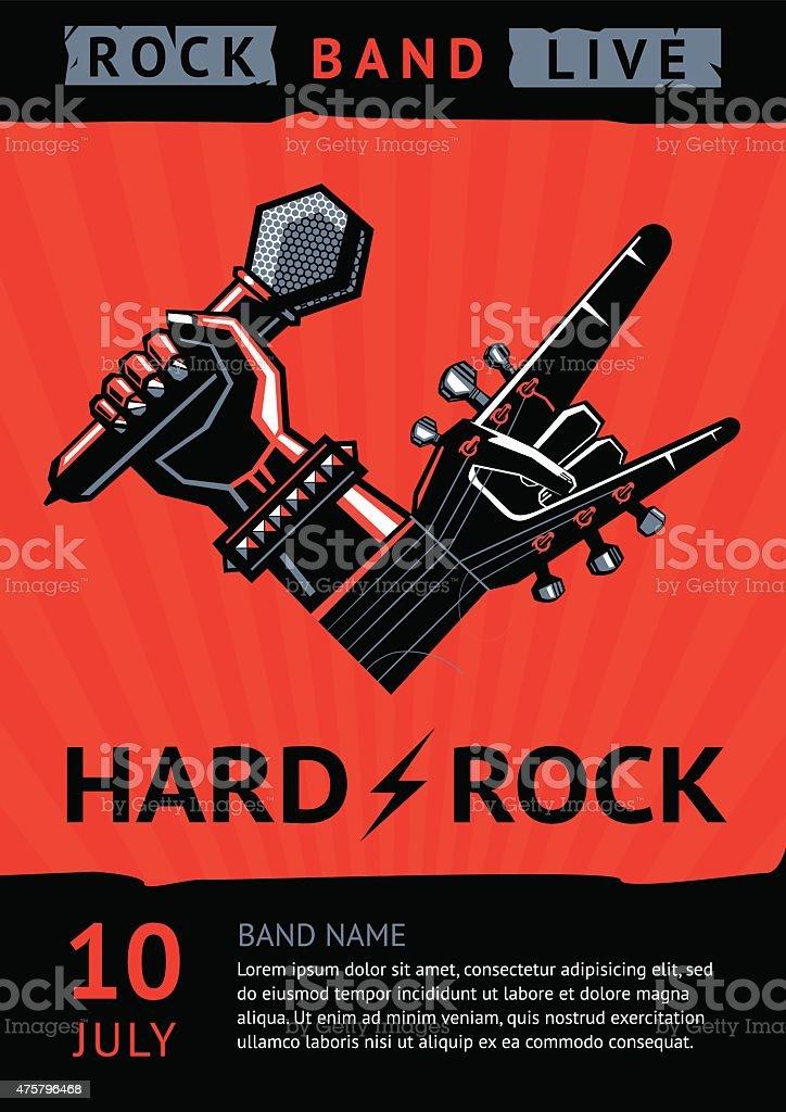 Hard rock fête - Illustration vectorielle