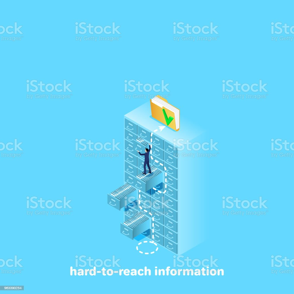 hard to reach information - Grafika wektorowa royalty-free (Administrator)