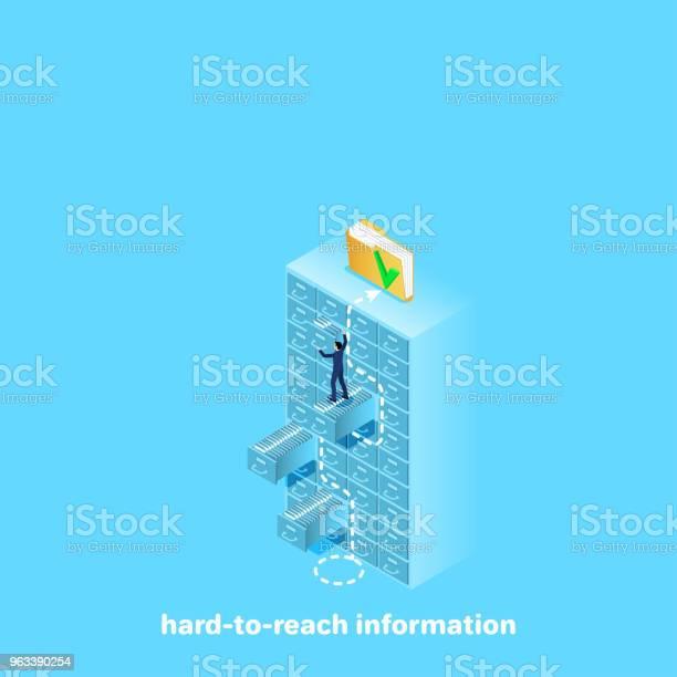 Trudno Dostępnych Informacji - Stockowe grafiki wektorowe i więcej obrazów Dokument
