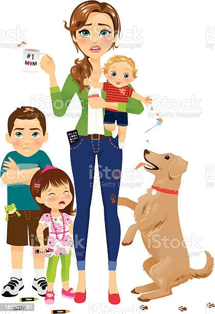 Hard working mom with kids vector id165979661?b=1&k=6&m=165979661&s=612x612&h=fk1yhpqdhinvxbqdto5xlsljlyxprr uv5xfplpyb3a=