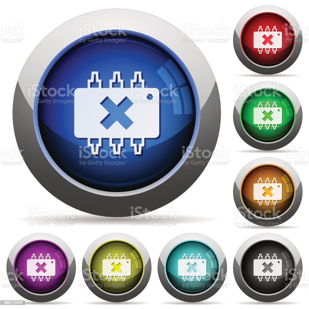 Hardware failure glossy buttons royalty-free hardware failure glossy buttons stock vector art & more images of applying