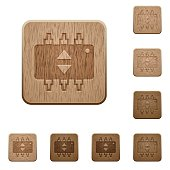 Hardware fine tune wooden buttons