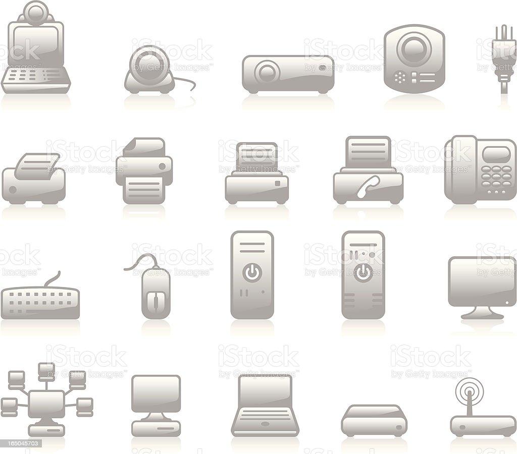 Hardware Icons - Grey royalty-free stock vector art