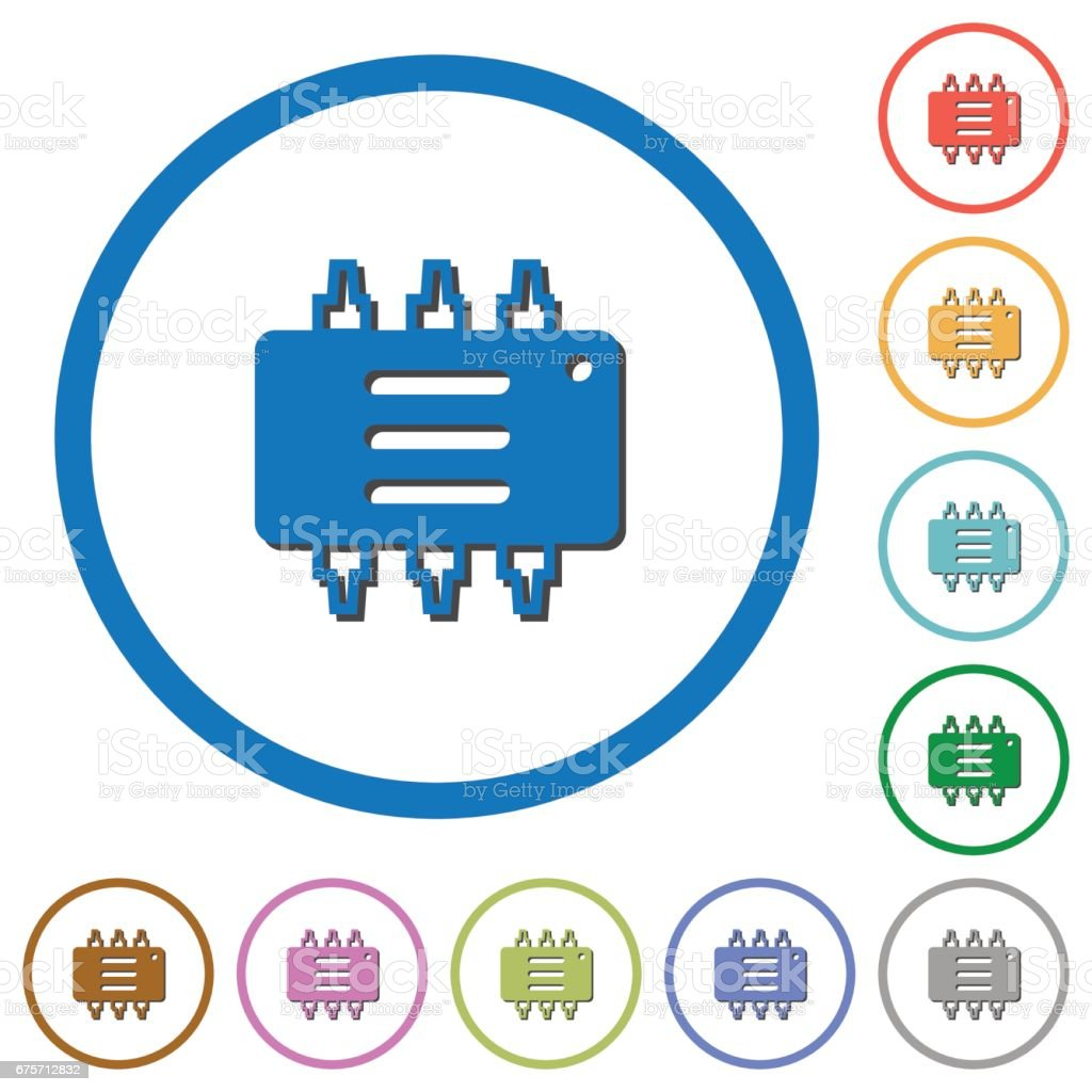 Hardware options icons with shadows and outlines royalty-free hardware options icons with shadows and outlines stock vector art & more images of blue