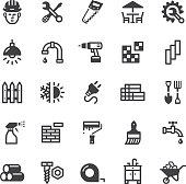 hardware store icons - Black series