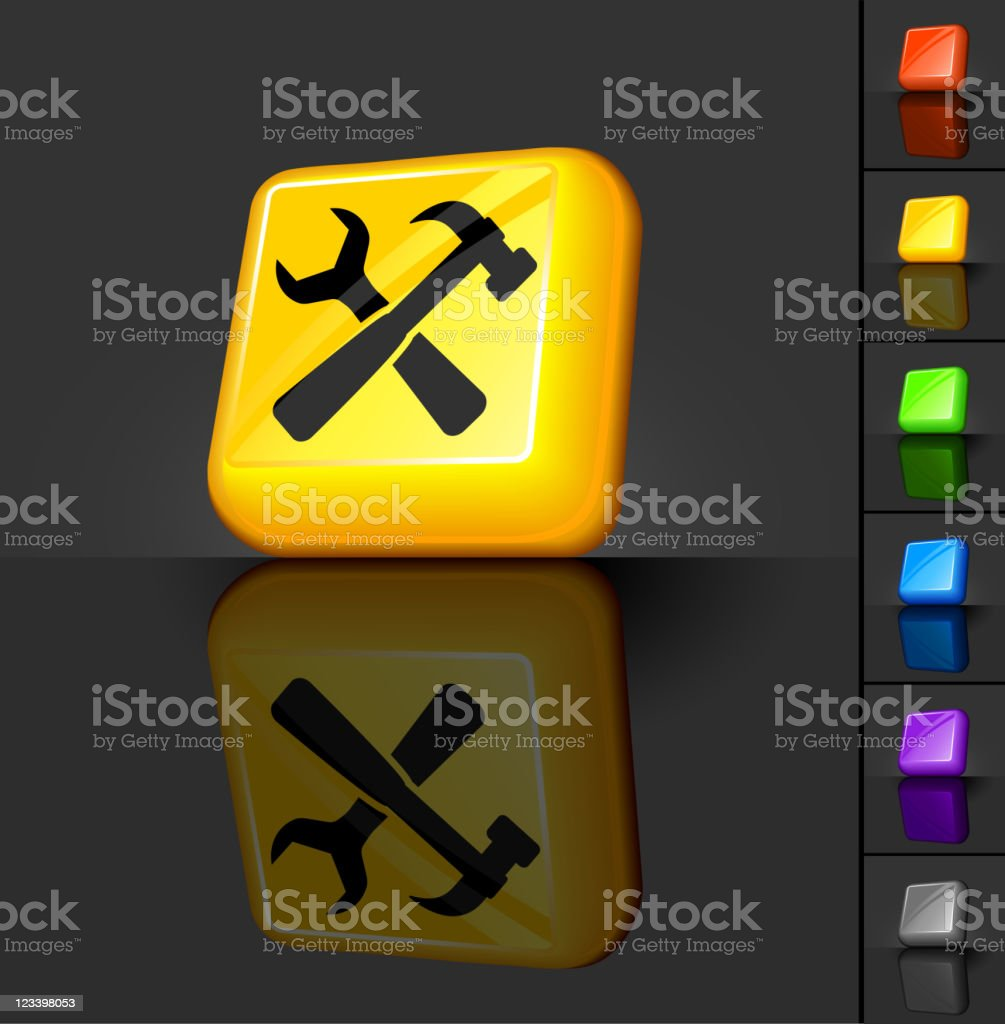 hardware tools 3D button design royalty-free stock vector art