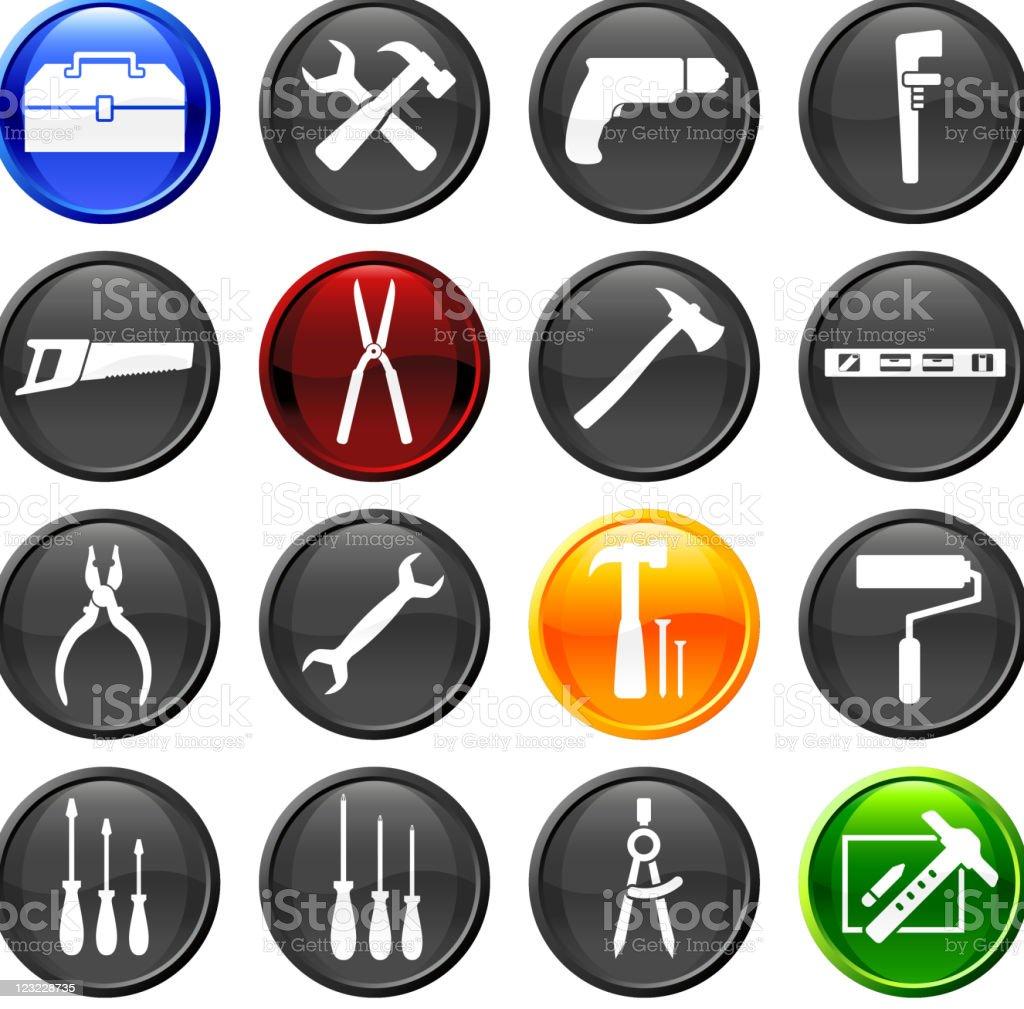 hardware tools sixteen royalty free vector icon set royalty-free stock vector art