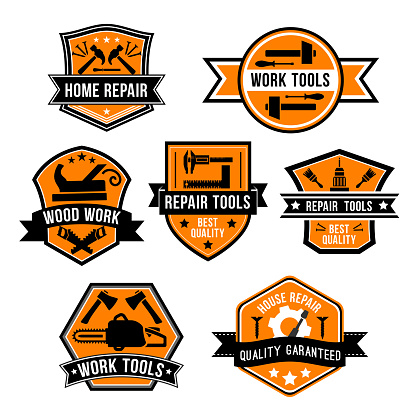 Hardware work tool isolated icons
