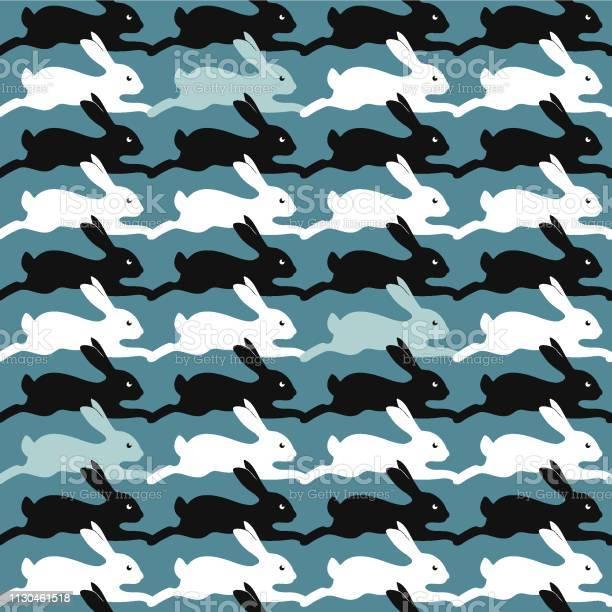 Hare seamless pattern vector easter bunny wild nature rabbit vector id1130461518?b=1&k=6&m=1130461518&s=612x612&h= zp1lll9agi vb2rrfyyn41uwq7yz8 kdfwghe8rymk=