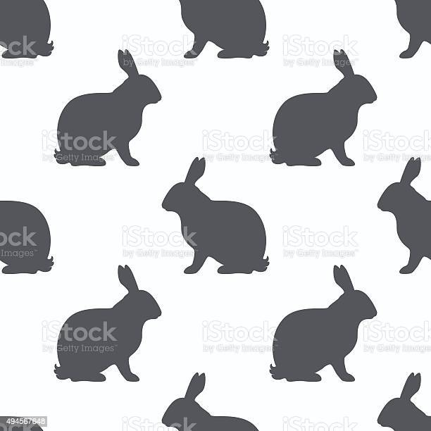 Hare silhouette seamless pattern rabbit meat background vector id494567648?b=1&k=6&m=494567648&s=612x612&h=akf3c0lkorwod gzjrpuerbq09t 96bus7ikuitpyxw=
