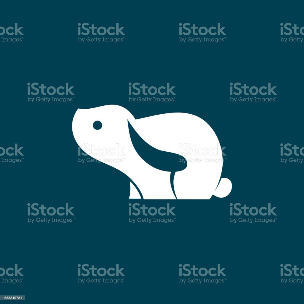 Hare Vector Symbol royalty-free hare vector symbol stock vector art & more images of abstract