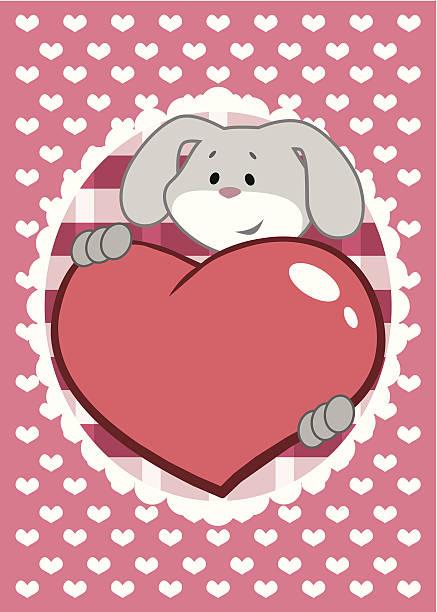 ilustrações de stock, clip art, desenhos animados e ícones de lebre com coração - lapa