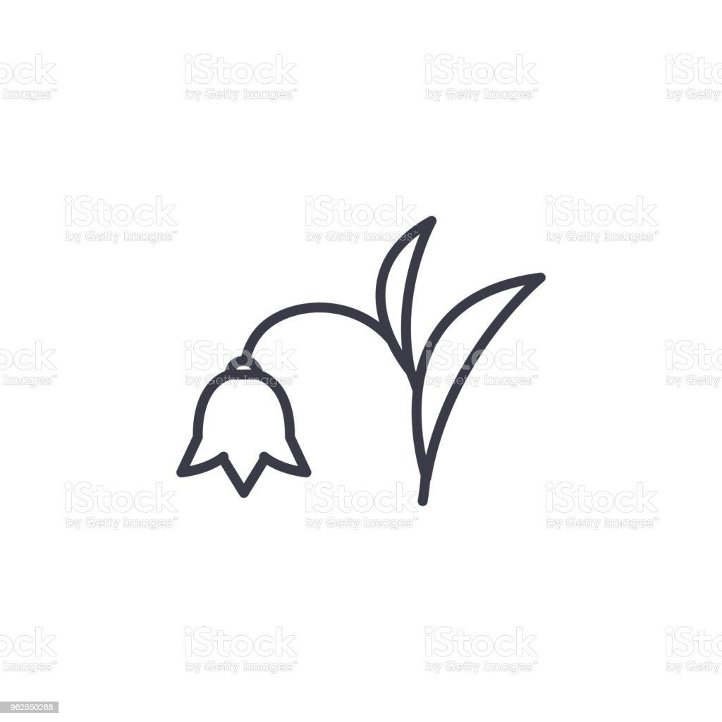 Conceito de ícone de linha harebell. Harebell plana vector sinal, símbolo, ilustração. - Vetor de Alasca - Estado dos EUA royalty-free