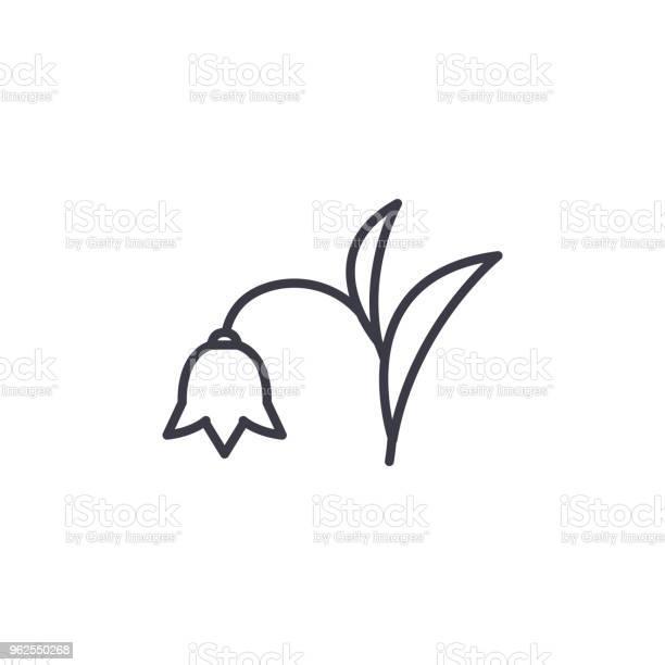 Vetores de Conceito De Ícone De Linha Harebell Harebell Plana Vector Sinal Símbolo Ilustração e mais imagens de Alasca - Estado dos EUA