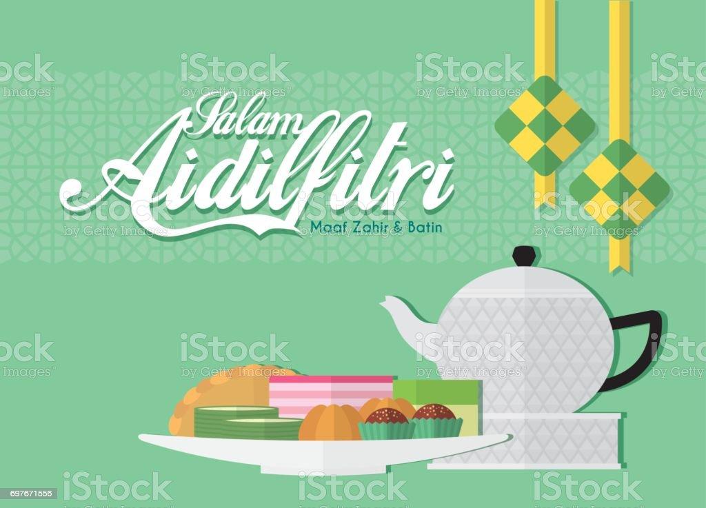 Hari Raya food 2 vector art illustration