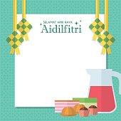 Hari Raya notepaper - food
