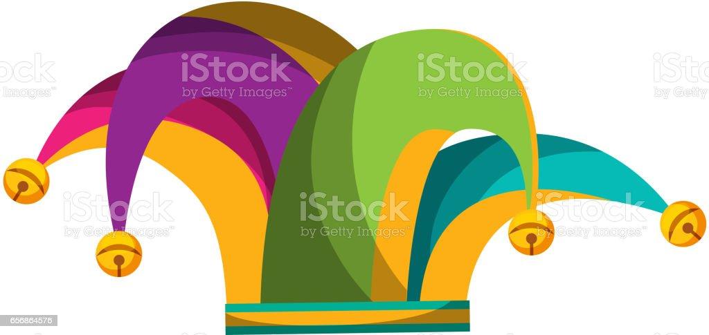 icône isolé chapeau Arlequin - Illustration vectorielle