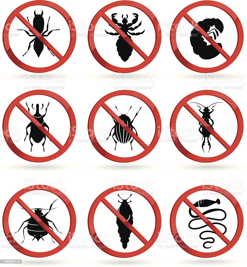 harmful insects royalty-free stock vector art