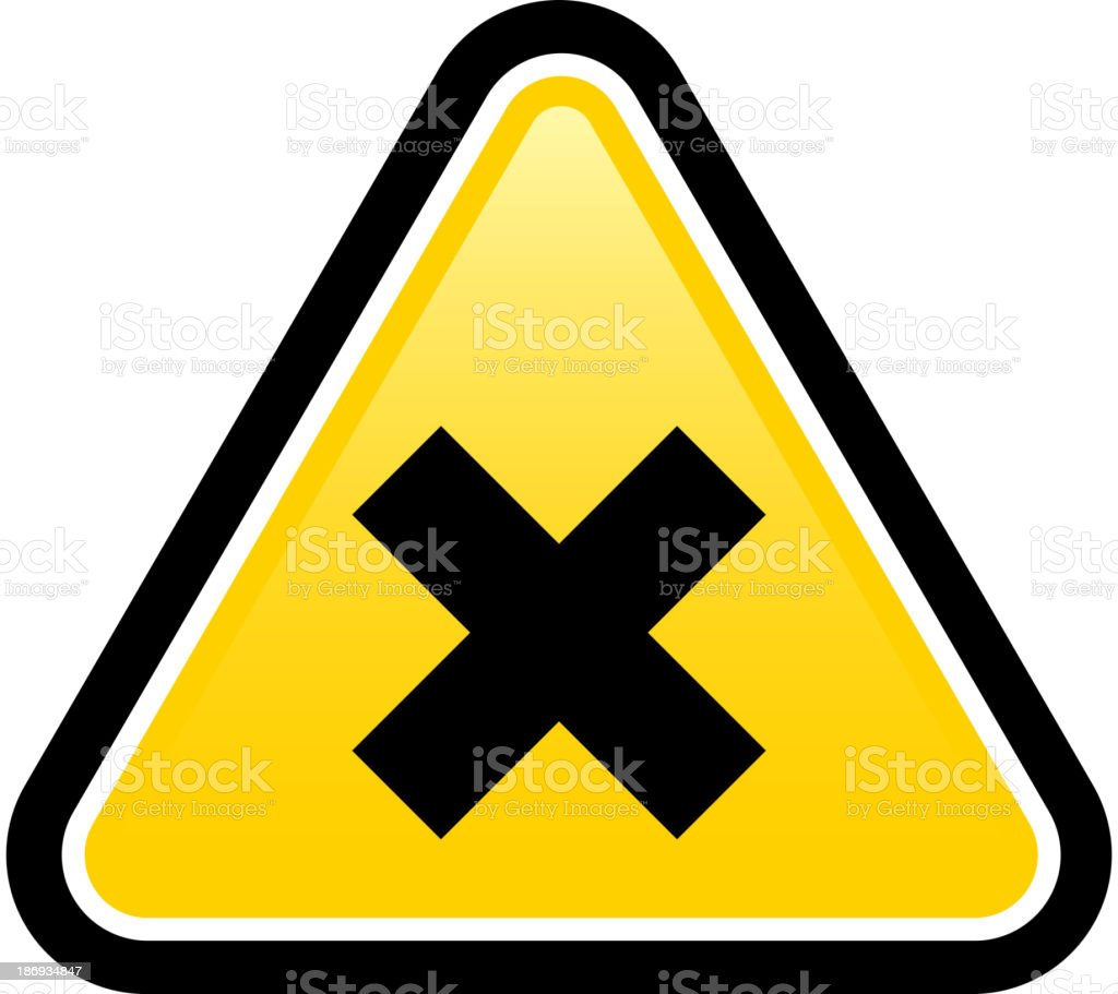 Harmful Sign royalty-free stock vector art
