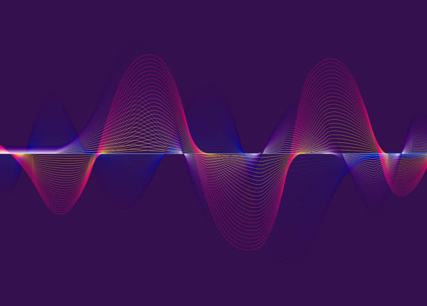 illustrazioni stock, clip art, cartoni animati e icone di tendenza di harmonic spectrum sound waves - elettrocardiogramma