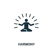 Harmony icon. Premium style design from teamwork icon collection. UI and UX. Pixel perfect Harmony icon for web design, apps, software, print usage.