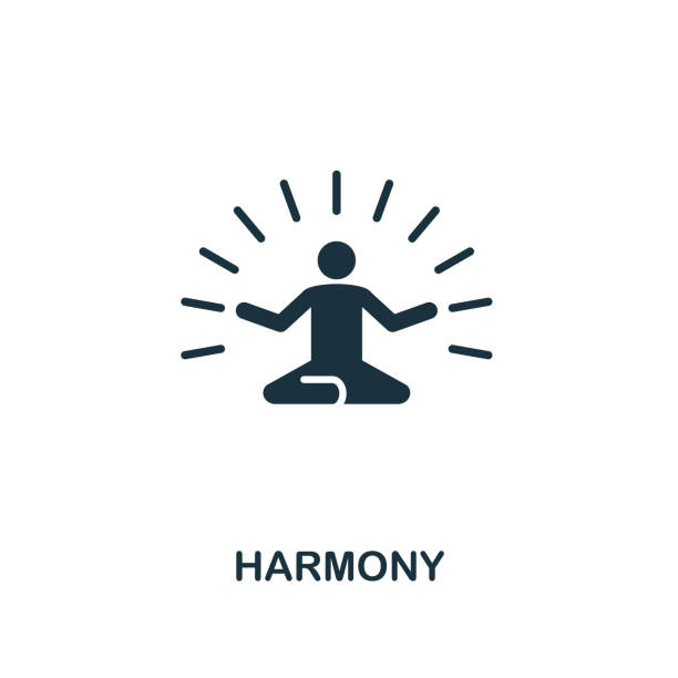 harmony icon. premium style design from teamwork icon collection. ui and ux. pixel perfect harmony icon for web design, apps, software, print usage. - wellness stock illustrations