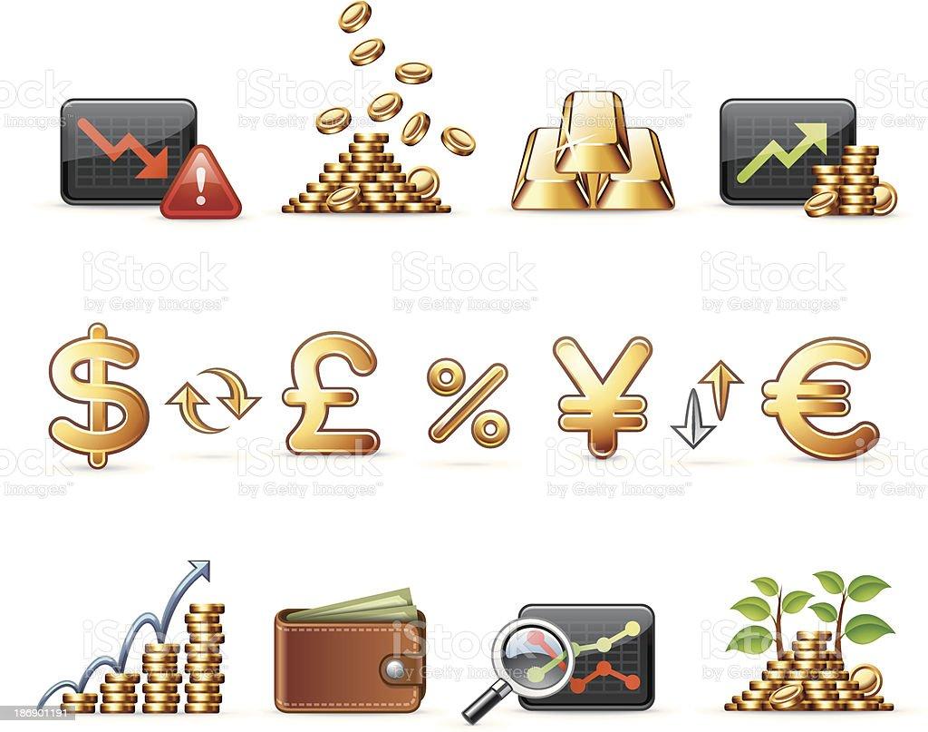 Harmony icon set | Money & Economy royalty-free stock vector art