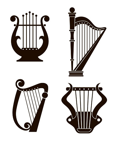 harp and lyre icons