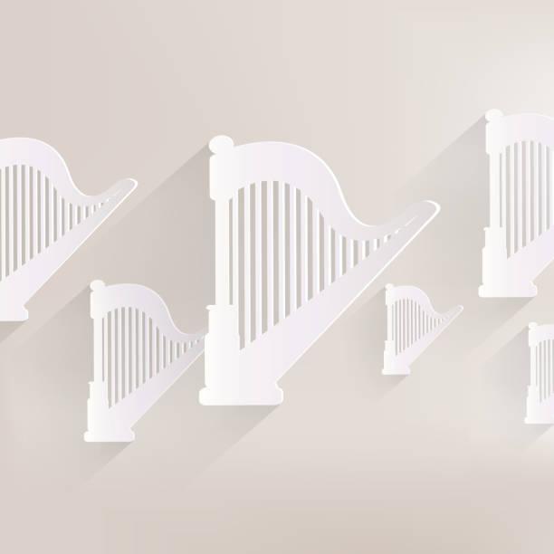 harfe-symbol.   msic instrumente - pompeii stock-grafiken, -clipart, -cartoons und -symbole