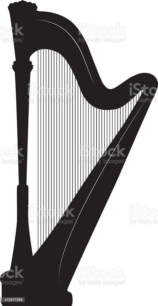 Harp Silhouette royalty-free stock vector art