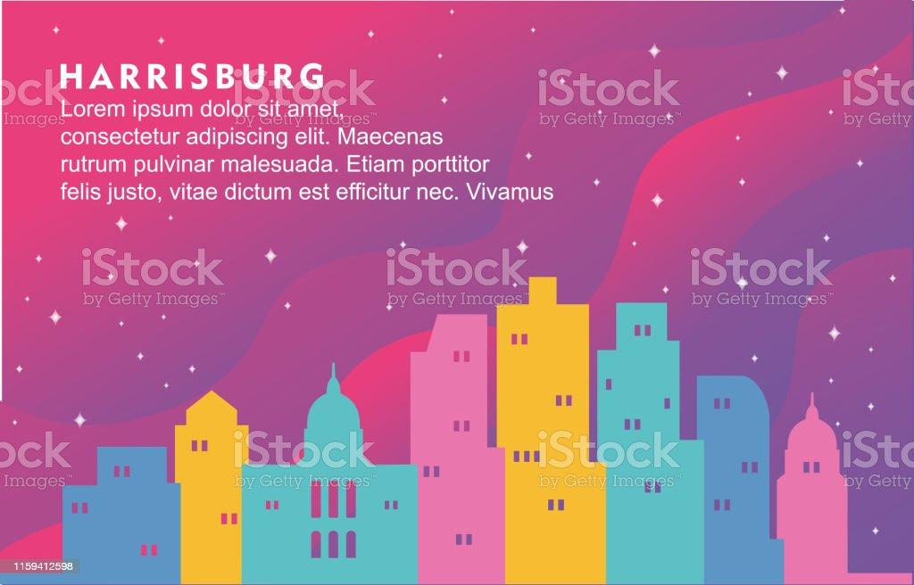 Harrisburg Pennsylvania City Building Cityscape Skyline Dynamic...