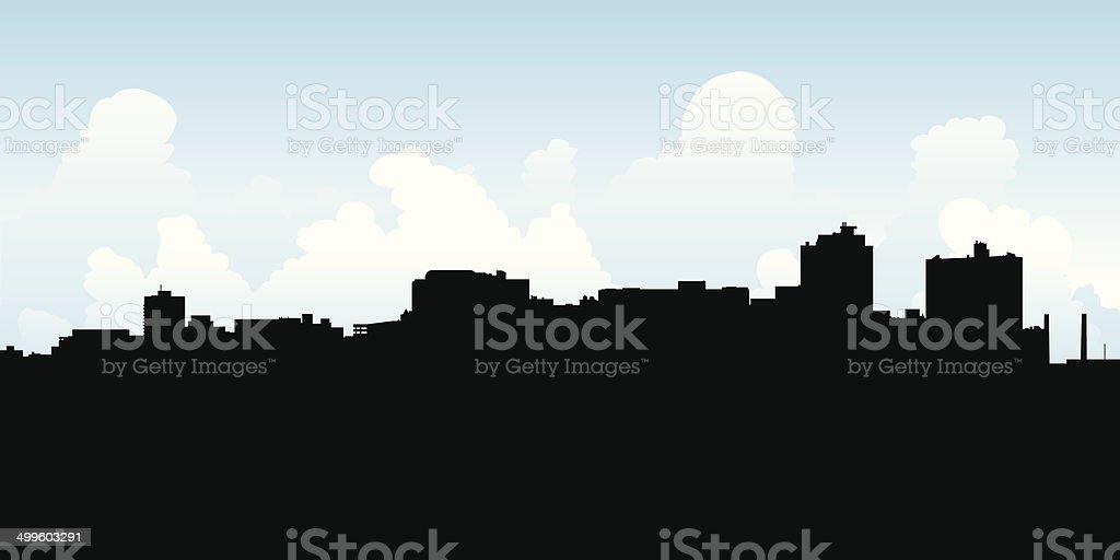 Harrisburg Skyline vector art illustration